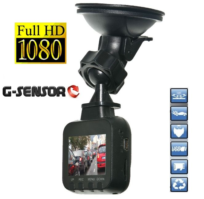 VideoRejestrator do Samochodu Kamera FULL HD 1920x1080 G-sensor Mini